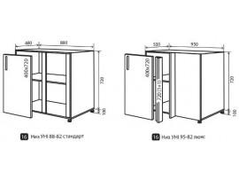 Кухня Альбина (Vip-master) Низ №16 (88/98-82) уни для углов