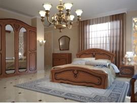 Спальня Альба (Неман) фото примеров оформления (орех светлый)