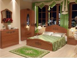 Спальня Лючия (Неман) фото примеров оформления (орех светлый)