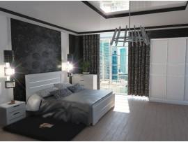 Спальня Соломия (Неман) фото примеров оформления (скол дуба белый)