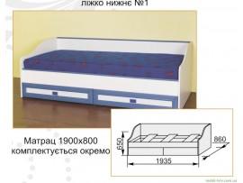 Детская Твинс (Сокме) Кровать нижняя №1