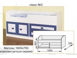 Детская Твинс (Сокме) Кровать нижняя №3