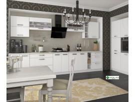 Кухня Шарлотта (Сокме) фото примеров оформления (белый)