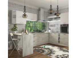 Кухня Шарлотта (Сокме) фото примеров оформления (дуб/белый)