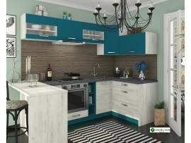 Кухня Шарлотта (Сокме) фото примеров оформления (индиго / дуб белый)