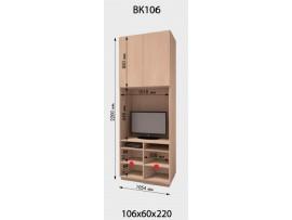 Приставка шкафа-купе ДОМ (2 двери) ВК 106 (для ТВ)