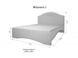 Спальня Богема (ДОМ) Кровать 160