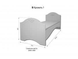 Спальня Богема (ДОМ) Кровать 80