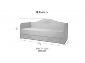 Спальня Богема (ДОМ) Кровать - диван