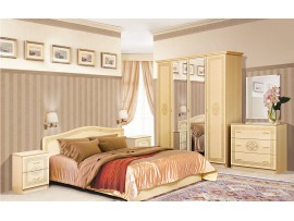 Спальня Флоренция (Свiт Меблiв) 4Д (фото примеров оформления венге светлый лак)