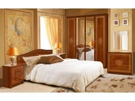 Спальня Флоренция (Свiт Меблiв) 6Д (фото примеров оформления каштан лак)