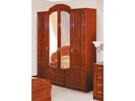 Спальня Камелия (Свiт Меблiв) Глянцевая Шкаф 4Д