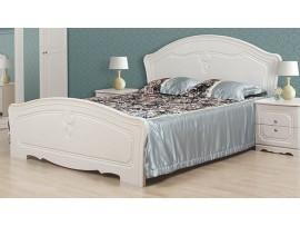 Спальня Луиза (Свiт Меблiв) Белое дерево Кровать 2сп (1,6м)