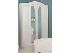 Спальня Луиза (Свiт Меблiв) Белое дерево Шкаф 4Д