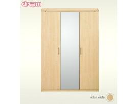 Спальня Дрим Шкаф 3-х дверный с карнизом