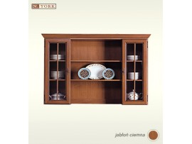 Модульная мебель Нью-Йорк (Гербор) Витрина GNAD 155W (надставка на буфет)
