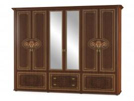 Спальня Алабама (Мебель-Сервис)  Шкаф 6д