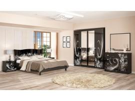 Спальня Ева (Мебель-Сервис) фото примеров оформления, цвет венге, белый