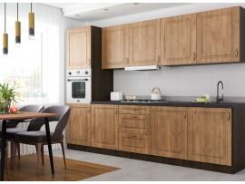 Кухня Грация (Vip-master) фото примеров оформления в цвете дуб медовый