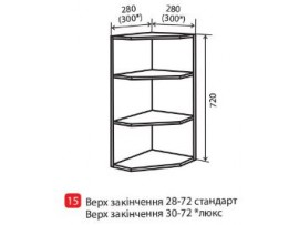 Кухня МоДа (Vip-master) Верх 28-72 (№15) Угол открытый